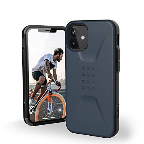 "Urban Armor Gear Civilian Funda Apple iPhone 12 Mini (5,4"") Case Protectora (Compatible Carga inalámbrica, Resistente a los Golpes, Parachoques Ultra Delgado) - Azul"