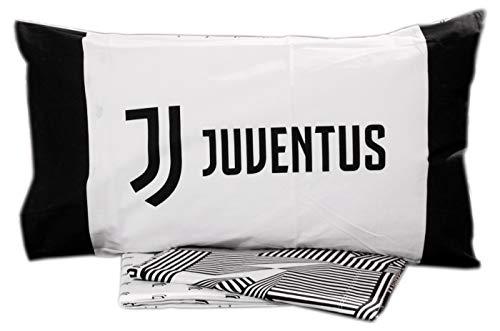 Completo lenzuola letto 2 Due Piazze Matrimoniale UFFICIALE JUVENTUS FC NUOVO LOGO JJ