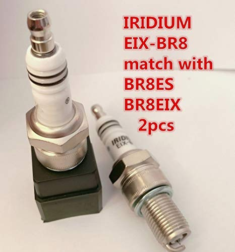 YANAN-スパークプラグ イリジウムスパークプラグEIX-BR8 2個For BR8ES BR8EIX BR8EG BR8ECS BR8ES-11 BR8EV IW01-24 IW24 W24ESR WR4CC WR4CP F8RC RN2C