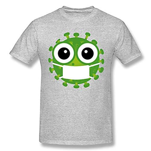 2020 Coron_avirus I Surviving Funny T-Shirt Cov_id 19 T-Shirt Female (Color : Gray, Size : M)