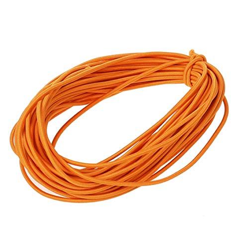 Usew 2 mm Heavy Round Elastic Cord,10 Yards (Orange)