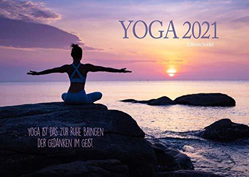 Edition Seidel Yoga Premium Kalender 2021 DIN A3 Wandkalender Sprüche Meditation Entspannung Achtsamkeit Gesundheit