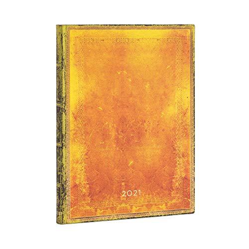 Paperblanks 12 Monate Softcover Flexis-Kalender 2021 Ocker | Vertikal | Ultra (180 × 230 mm)