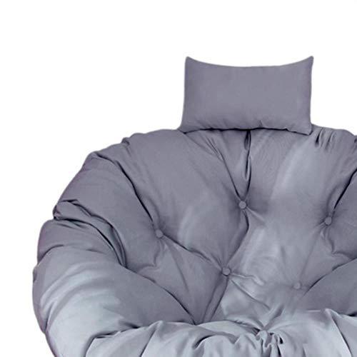 HPOZA - Cojín de asiento para columpio para colgar en silla de jardín, color gris