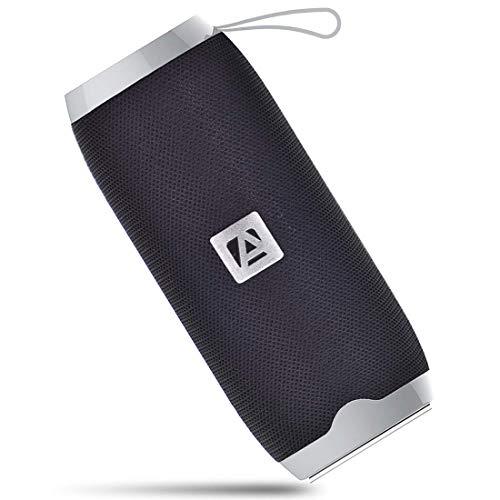 Aduro Portable Bluetooth Speaker, Outdoor Wireless Speaker Built-in Mic, USB Flash Drive and Micro SD Input (Black)