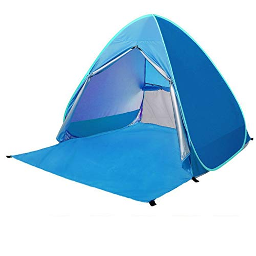 Ownlife 3-4 People Anti U-V Beach Tent Quick Pop Up Sunshade Outdoor Travel Summer Tent with Bag