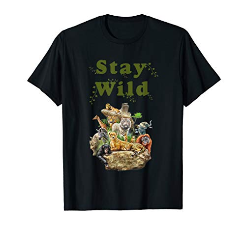 Stay Wild African Animal Jungle Safari T shirt