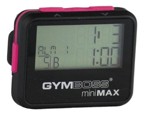 Gymboss miniMAX - Cronómetro y temporizador de intervalos, color rosa y negro