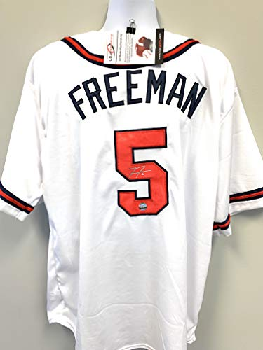 Freddie Freeman Atlanta Braves Signed Autograph Custom Jersey LoJo Sports Certified