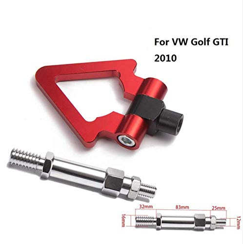 EPMAN Racing Sport Car Towing Hook Racing Tow Bar Auto Trailer Ring for VW Golf GTI 2010 TK-RTHLPH010 (Red)