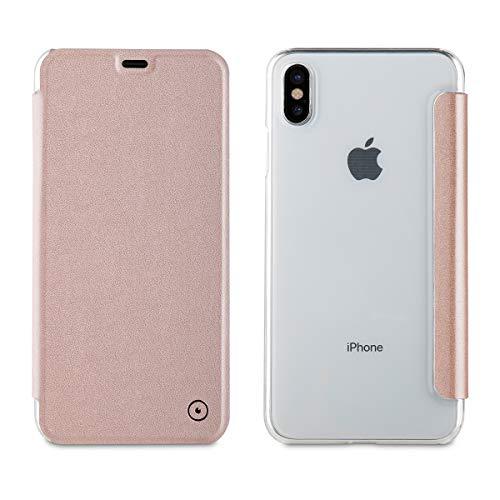 Muvit Folio - Funda para Apple iPhone XS MAX, Color Oro Rosa