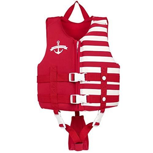 Kids Swim Vest Children Float Vest Swimming Training Learn to Swim Jacket Red L