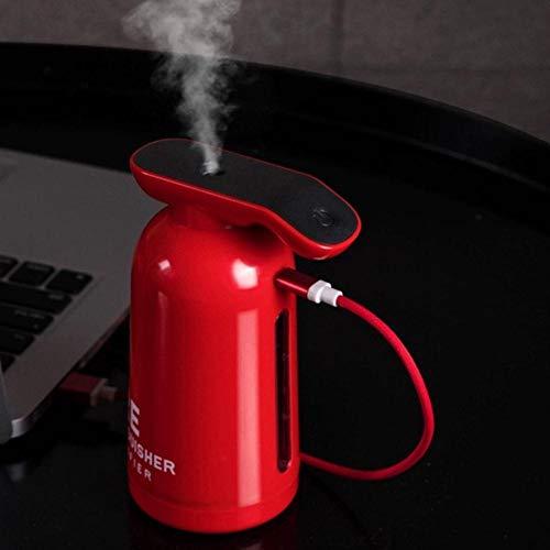 Haochide, luchtbevochtiger, multifunctionele luchtbevochtiger, 250 ml, ultrasone brandblusser, luchtbevochtiger, aroma, etherische olie, diffuser voor huis, auto, USB-verstuiver, mist