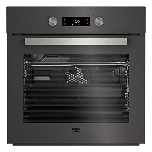 Beko BIM24301ZGCS Backofen/ 56.7 cm / Katalytische Rückwand / Elektronikuhr / SoftClose-Türschließmechanismus / 8 verschiedene Heizarten / 3D Kochen / PractiClean /  Herausnehmbare Seitengitter