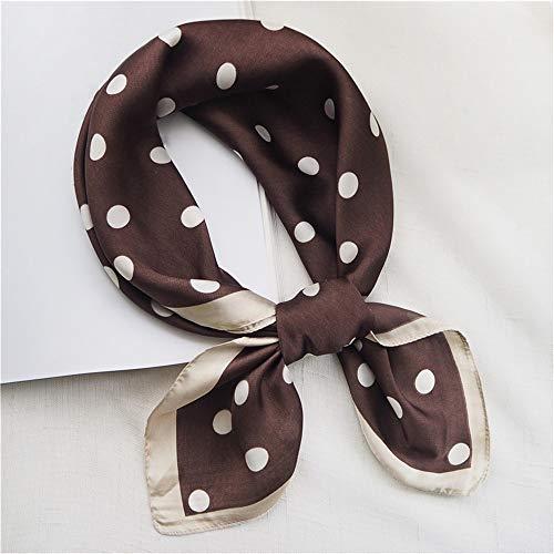 xin24 spot kleine vierkante sjaal vrouwelijke zijden sjaal Wilde decoratie kunst professionele sjaal 70 * 70, koffie