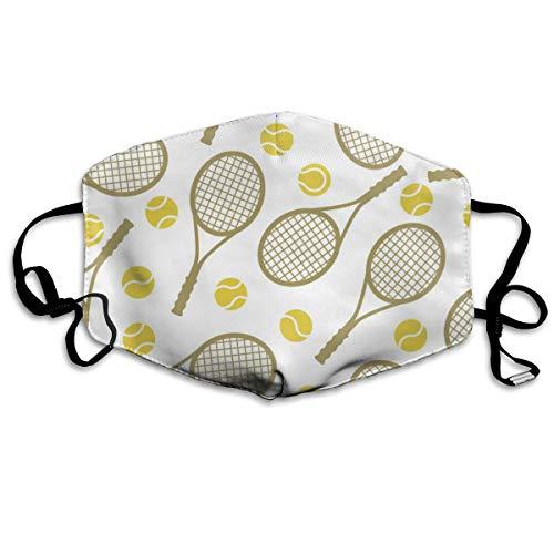 Tennis Rackets Ballen Unisex Volledige Coverage Buis Gezicht Masker Bandanas UV Bescherming Hals Gaiter Hoofdband