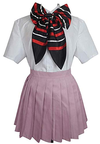 HonRmon Ao no/Blue Exorcist Shiemi Moriyama School Uniform Anime Cosplay Costume (Women-XL)