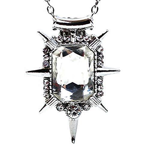 Inception Pro Infinite Collar con colgante de cristal transparente de Glinda Once Upon A Time El Mago de Oz Bruja del Sur - Idea regalo - Idea regalo