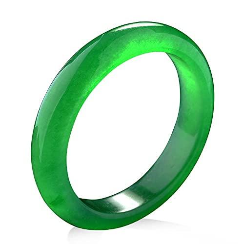 North King Pulsera De Jade Verde CláSico Chino Natural JoyeríA Redonda De Estilo De Moda Regalo De Madre Amor con Exquisito Joyero