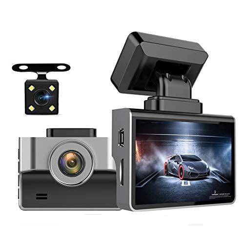 YSSSZ Grabadora de conducción 1080p Pantalla HD de 2,2 Pulgadas Lentes Gran Angular de 140° con Soporte de cámara retrovisora Detección de Movimiento de Video invertido, Sensor de Gravedad