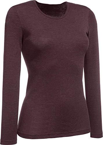 Conta 781-8439 - Camiseta Interior térmica de Manga Larga para Mujer (Talla 36-50), Color Granate