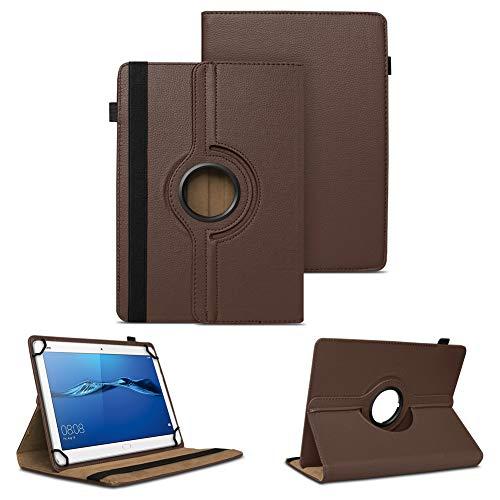 NAUC Tablet Tasche kompatibel für Huawei Mediapad X2 Hülle Schutzhülle Cover Schutz Hülle Drehbar, Farben:Braun