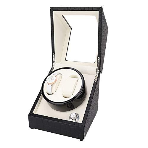 WYLZLIY-Home Automatische Uhrenbeweger Uhrendreher Box Automatische Uhrwickelschachtel Mit 2 Uhrenwicklerpositionen Lagerräume Für Männer Und Frauenuhren