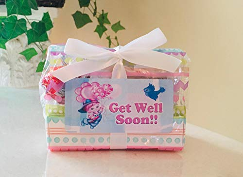 Get Well Gift Basket - SUPER HEALTH PACK! Organic Herb Teas, Hot Coco, Cookies, Chocolate Truffles & More!! (Small)
