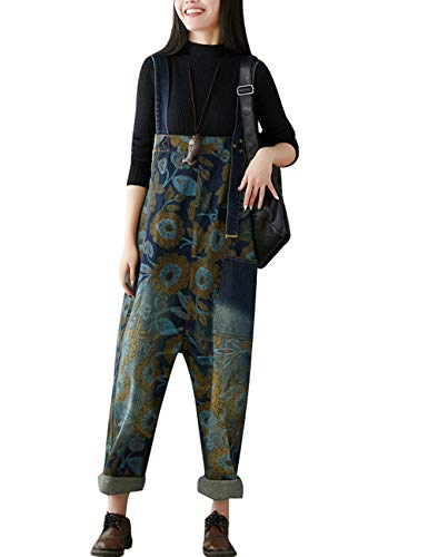 Youlee Damen Sommer Breites Bein Hose Denim Latzhose Overall Hosen Style 23