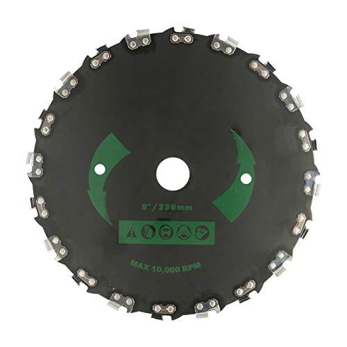 Cuchilla para desbrozadora de disco para sierra de cadena, cabezal para desbrozadora de acero de 9 pulgadas, hoja para desbrozadora, piezas para desbrozadoras para usos severos