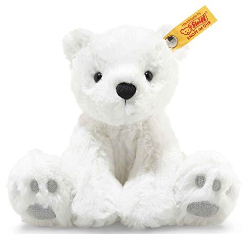 """Steiff 62629 Original Plüschtier Eisbär Soft Cuddly Friends Lasse, Kuscheltier ca. 18 cm, Markenplüsch Knopf im Ohr"""", Schmusefreund für Babys von Geburt an, weiß"""