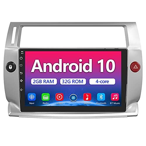 AWESAFE Android 10.0 [2GB+32GB] Radio Citroen C4 2004-2009 para Coche 9 Pulgadas con Pantalla Táctil, con Bluetooth/WiFi/GPS/DSP/RDS/USB/FM Am/RCA, Apoyo Mandos del Volante, Aparcamiento, Mirror Link