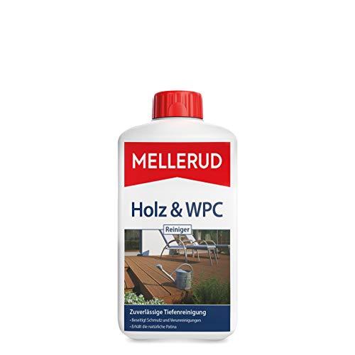 Mellerud Holz & WPC Reiniger – Zuverlässige Tiefenreinigung von Allen Holz-, WPC- und BPC-Arten im Innen- und Außenbereich – 1 x 1 l
