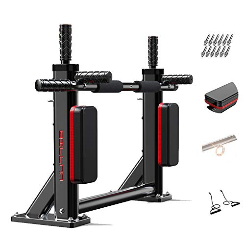 Multifunction Pull-Up Bars, Pull Up Bars Wall Mounted Chin Up Bar Pullup and Dip Bar Pull Up Machine for Home Gym and Fitness, Max.Load 200Kg,Black