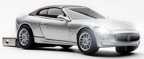 Click Car Maserati GranCabrio 8GB USB Memory Stick in Silver CCS660233