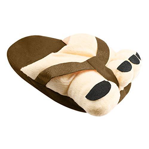 Zapatillas de Casa para Mujer/Hombre Zapatillas Fluff Antideslizantes Invierno Cálido Confortables Casa Interior/al Aire Libre Diseño de Pies Grandes, Sencillo Vida