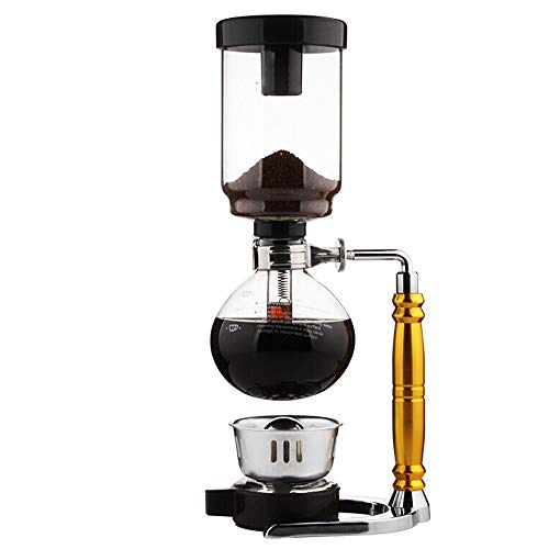 Coffee Siphon Pot Set Coffee Hand-made Suit Siphon Coffee Pot Coffee Maker Accessories Manual Coffee Maker Coffee Filters (Color : Gold, Size : 37.5x13cm)