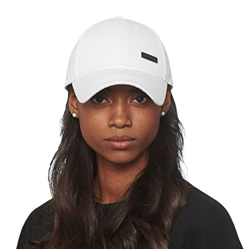 CACUSS Damen Baumwolle-Vati-Hut Baseball-Golf-Kappe Mit Einstellbarem Schnallenverschluss einheitsgröße weiß