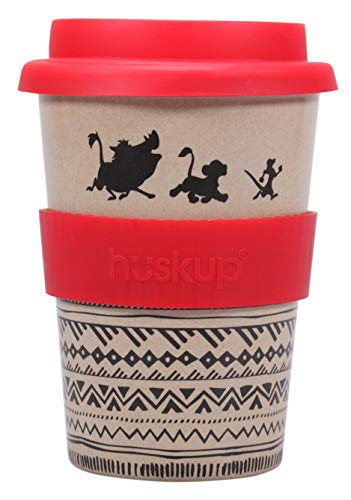 Half Moon Bay HUSKDC03 TAZA DE VIAJE DISNEY THE LION KING NO WORRIES, Acero Inoxidable