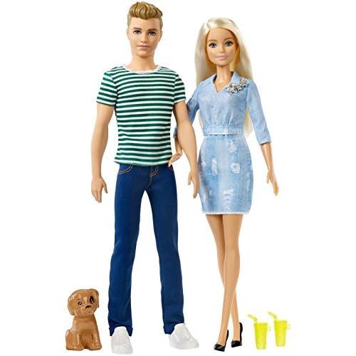 Barbie-e Ken Playset con Due Bambole, Cagnolino e Accessori, Giocattolo per Bambini 3+ Anni, FTB72
