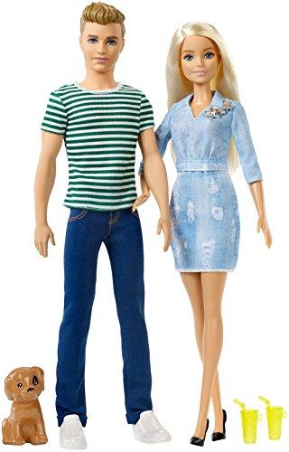 Barbie et Ken Coffret Cadeau Ensemble avec Chiot - 0