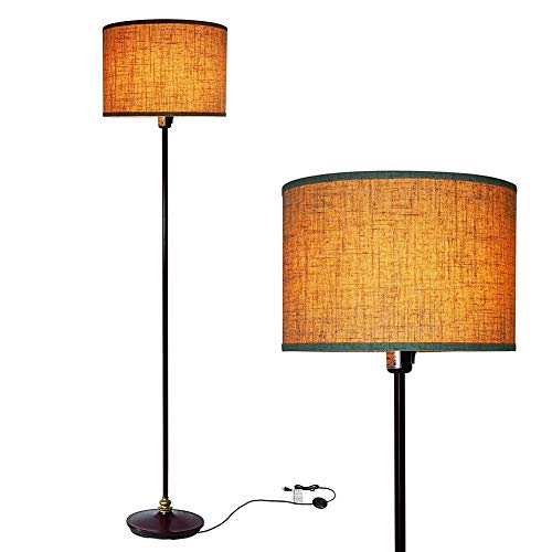 HONGLONG Wohnzimmerstehlampe, Stehlampe mit moderner suspendierte Trommelabdeckung, dickere Pol-Lampe, für Büros, mit Tasten und Schaltern Etagen