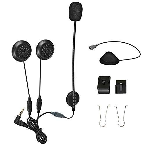 Accesorios de intercomunicador de Motocicleta para E6, Micrófono Auricular Duro/Auriculares con Cable y Clip para Motocicleta BT Intercomunicador Bluetooth