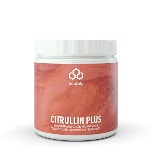 Citrullin Pulver, Pre-Workout Pump Supplement, L Citrullin Malat Pulver mit Taurin, Vitamin B12...