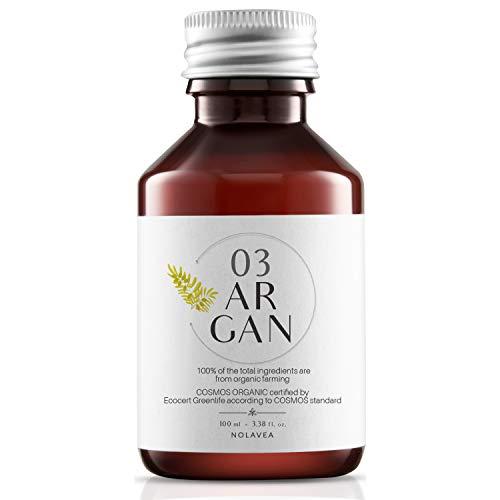 Arganolie Organische 100% - 100ml - Organische en Veganistische olie - Koudgeperste en Maagdelijke olie - 1e druk - Huidverzorging en haarserum - Voeden, herstellen, tonifiëren en bevochtigen