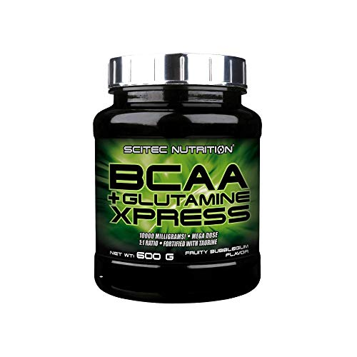 Scitec Nutrition BCAA + Glutamine Xpress, fortified with taurine, sugar free, 600 g, Bubble gum