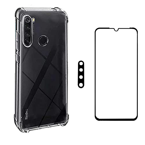 Kit Capa Antishock + Película 5D Nano Blindada + Película Câmera Xiaomi Redmi Note 8