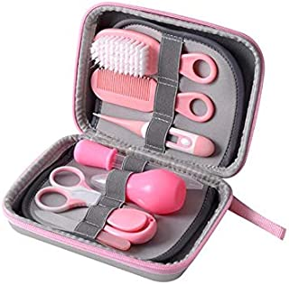 8Pcs/set Portable Baby Nail Clipper Comb Brush Set Infant Health Care Kit Infant Grooming Care Nail Clippers Comb Hair Bru...