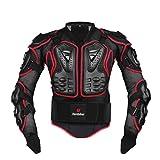 Motorcycle Jacket,Motorradjacke, Herren Motorradrüstung Motocross Racing Schutzausrüstung, Sport Offroad Rüstung-Anti-Fall (Red,XL)