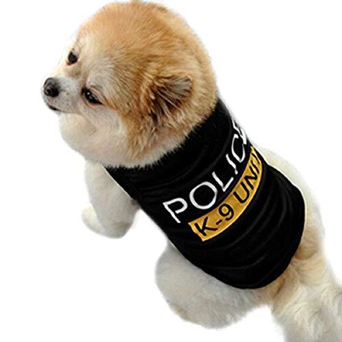 Costume con Stampa Police - Poliziotto - Polizia - Forze dell' Ordine - Carabinieri - Cane - XS - Idea Regalo per Natale e Compleanno